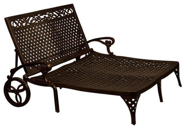Kokomo Double Chaise Lounge Without Cushion Traditional Outdoor Lounges