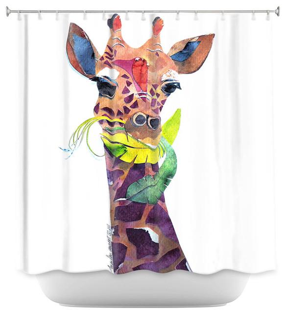 Shower Curtain Unique From DiaNoche Designs   Giraffe