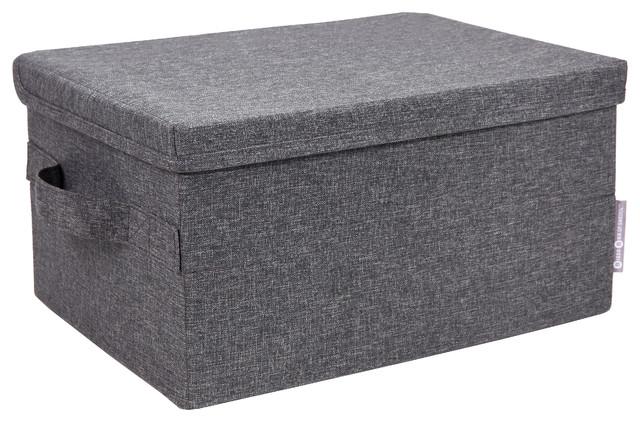 Soft Storage Box, Storage, Large, Grey.