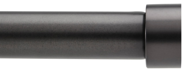 "Cappa 1"" Single Rod, 66-120"", Brushed Black. -1"