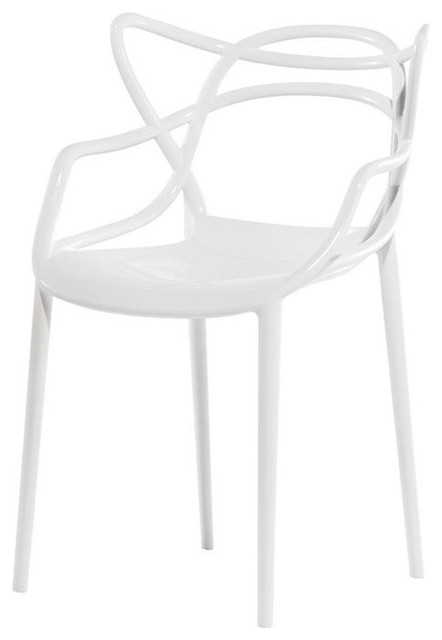 Kartell Masters Chair, White, Set Of 2