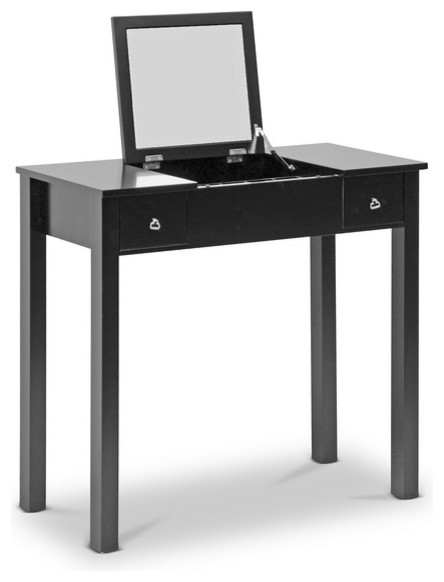 Black Wessex Vanity Table Contemporary Bedroom And Makeup Vanities