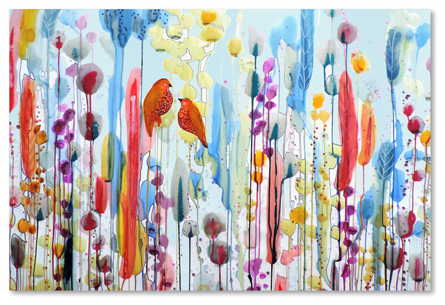 Sylvie Demers Si Tu Me Le Demandais Canvas Art Contemporary Prints And Posters By Trademark Global