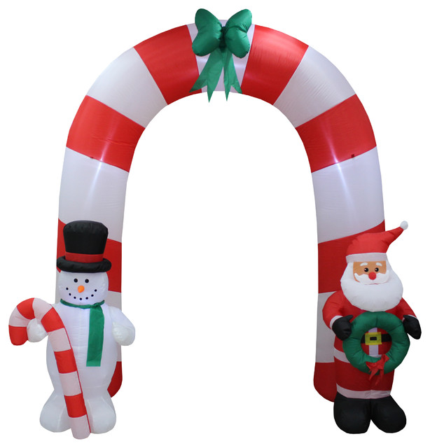 8 Airblown Inflatable Santa Penguin Coffee Shop Igloo: Christmas Inflatable Santa Claus Snowman Bow Tie Arch Yard