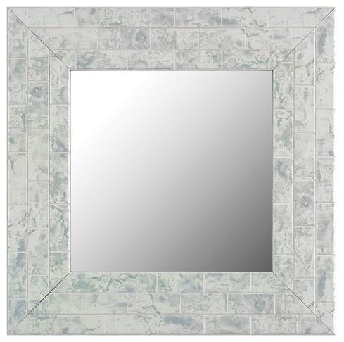 lexington sky marble silver gray mirror frame