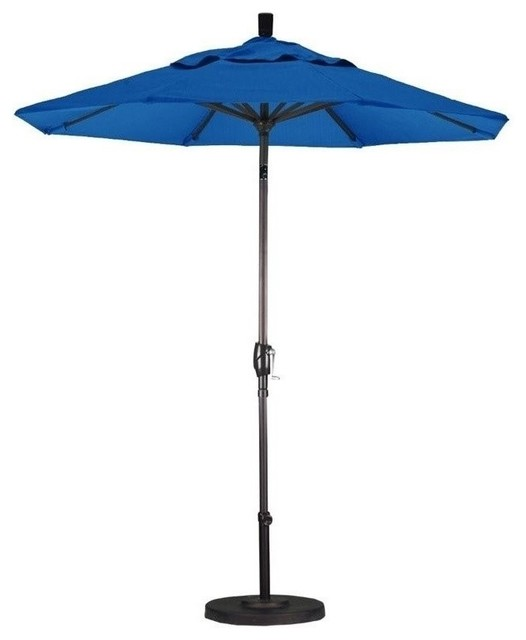 California Umbrella 7 5 Market Patio Umbrella Frost Blue
