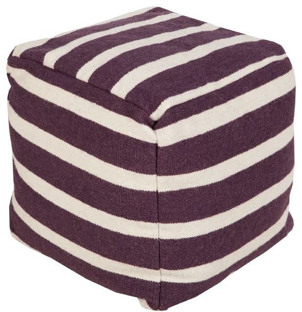 Fantastic Surya Poufs Pouf Ottoman Purple Square 18 Dailytribune Chair Design For Home Dailytribuneorg
