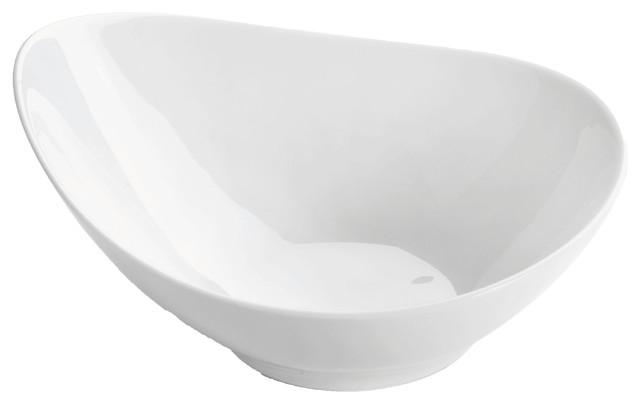 Galet Porcelain Bowls, White, Set of 6