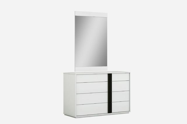 Whiteline Kimberly Dresser In High Gloss White DR1617-WHT/BLK