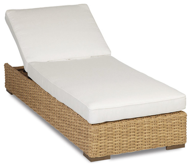 Leucadia Adjustable Chaise With Cushions, Cushions: Spectrum Mushroom.