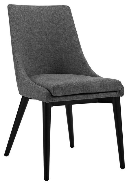 Viscount Fabric Dining Chair, Gray.