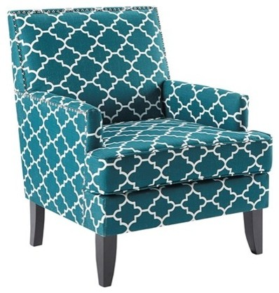 Madison Park Colton Wood And Polyester Chair, Teal