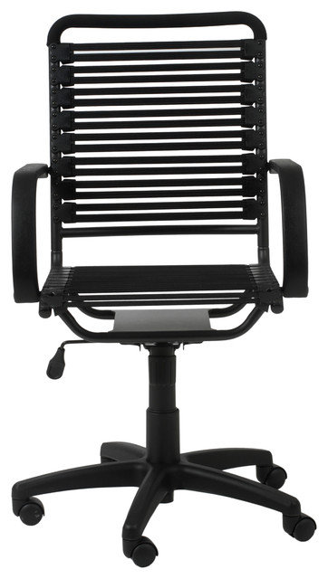 Bungie Flat High Back Office Chair, Black/Graphite Black