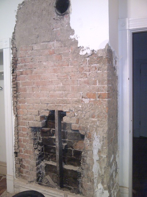 Exposed Brick Fireplace Now What