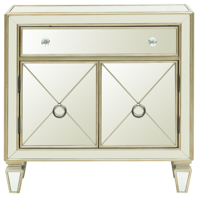 Accentrics Home Glam Mirrored Accent Chest