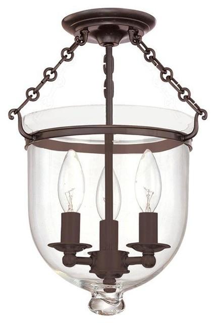 Hudson Valley Lighting 251-Ob-C1 Hampton Semi Flush Mount Light, Old Bronze