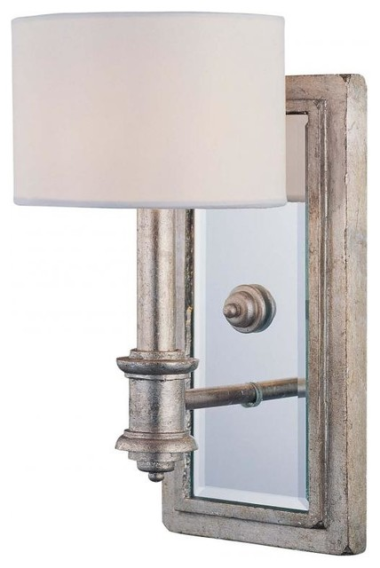 White Bathroom Wall Sconces : Argentum 1-Light Wall Sconce With Shade, White - Contemporary - Bathroom Vanity Lighting - by We ...