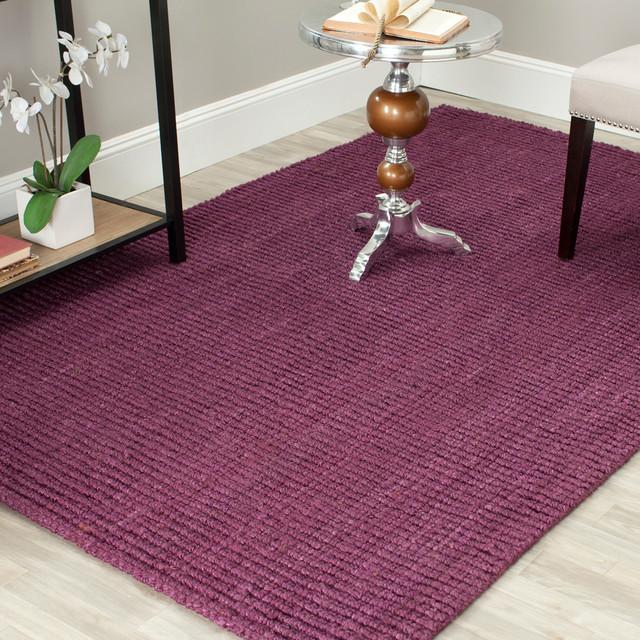 Safavieh Estmund Natural Fiber Rug, Purple, 6&x27;x9&x27;.
