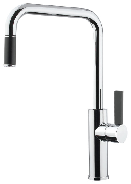 Luz Mono Shower Faucet, Brushed Nickel Modern Kitchen Faucets