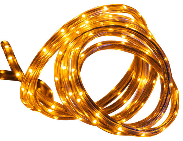 30&x27; Led Indoor/outdoor Christmas Linear Tape Lighting, Amber.