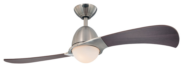 "Westinghouse 48"" Brushed Nickel Finish 2-Blade Indoor Ceiling Fan."