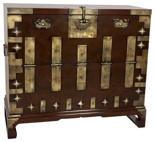 Korean Bandaji Antique Style Blanket Chest