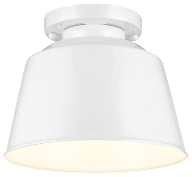Murray Feiss Sf314hgw Freemont 1 Bulb Hi Gloss White Semi Flush