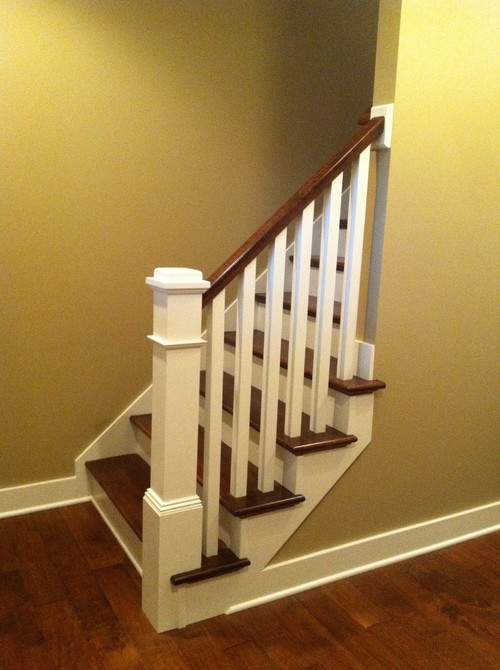 Craftsman Style Banister In The House We Designed And Built.