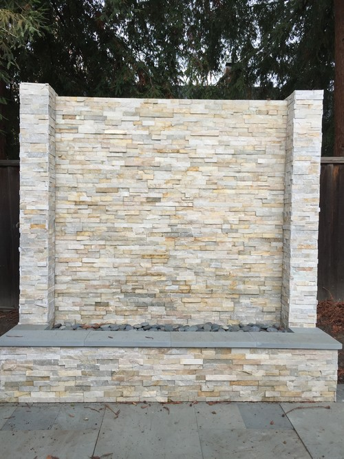 Candle Lighting For Outdoor Stone Wall Fountain