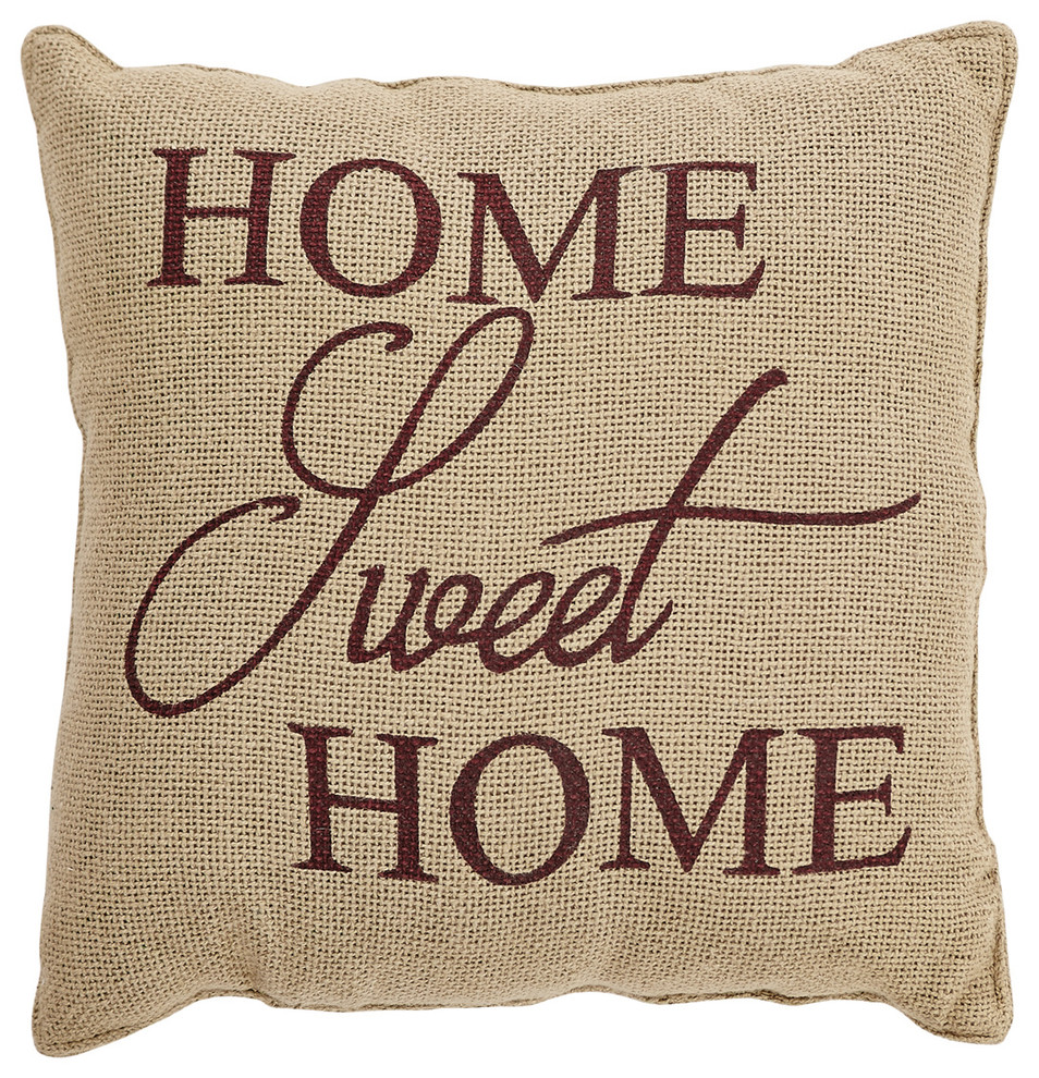 New Meekio Farmhouse Decorative Throw Pillow Covers with Home Sweet Home Quot..
