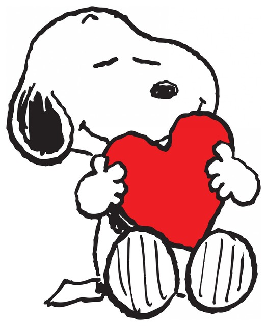 Quot Snoopy Heart Quot Peanuts Print On Canvas Contemporary