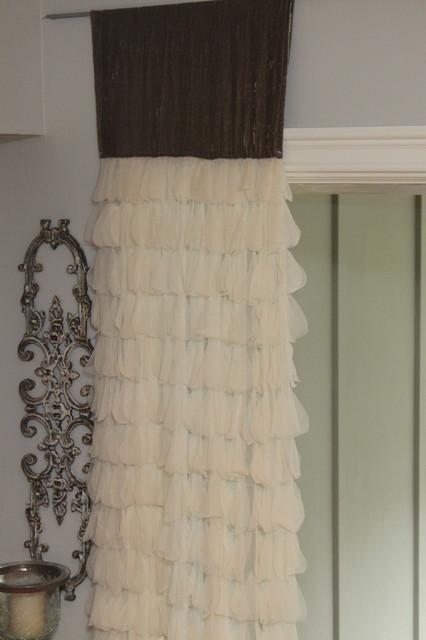 Couture Dreams Luscious Petal & Silk Velvet Window Panel curtains