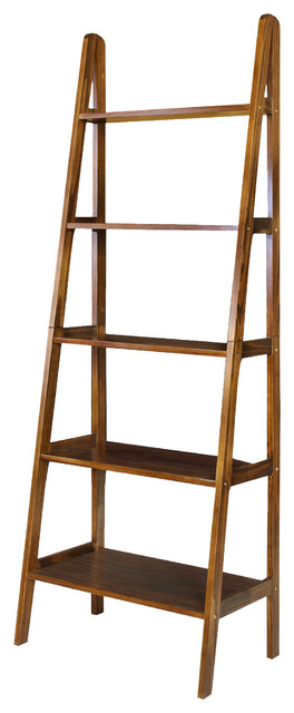 Mabel 5-Shelf Ladder Bookcase, Natural.