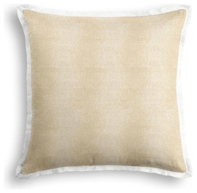 Tan Linen Throw Pillow : Silvery Tan Metallic Linen Throw Pillow - Contemporary ...