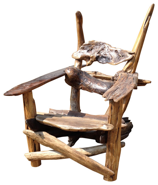 Driftwood Chair Fisher of Men Rustic Outdoor Lounge Chairs by Artistic