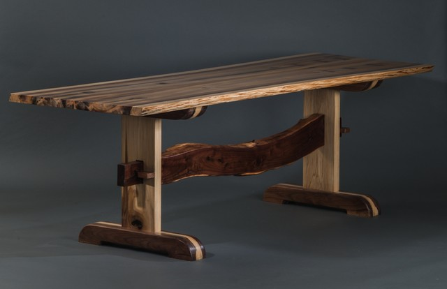 Rainbow Poplar Trestle Table