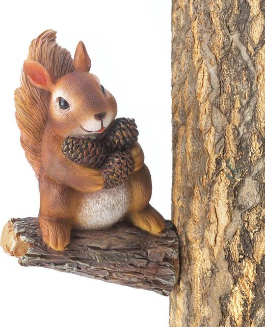 Koehler Home Decor Gathering Squirrel Tree Decor - Rustic - Garden on snow home, santa home, tree stump home, rat home, hedgehog home, turkey home, bee home, horse home, monkey home, flowers home, chipmunk home, frog home, turtle home, bear home, duck home, hummingbird home,