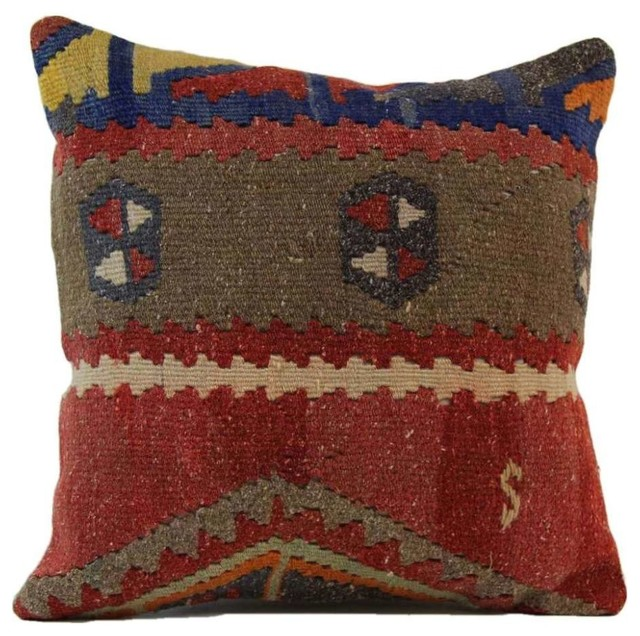 Decorative Pillows Kilim : Authenturkish Decorative Handmade Kilim Pillow Cover, 16