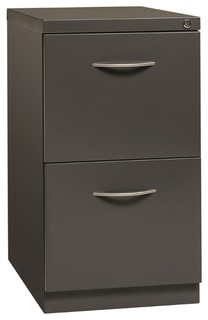 Hirsh Industries Arch Pull Mobile Pedestal Filing Cabinet, Black - Contemporary - Filing ...