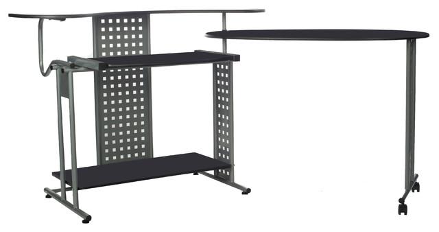 "Regallo Expandable ""l"" Computer Desk."