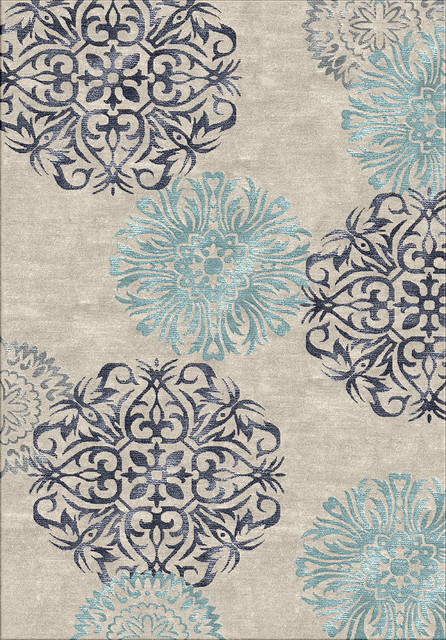 Rizzy Eden Harbor EH8640 Light Blue 2' x 3' Rug contemporary-area- - Rizzy Eden Harbor EH8640 Light Blue Rug - Contemporary - Area Rugs