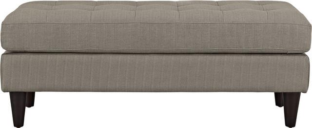 Miles Upholstered Fabric Bench, Granite. -1