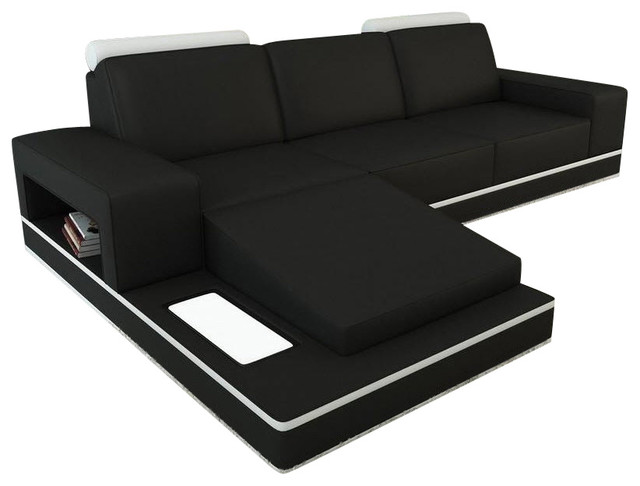 Marvelous Divani Casa Ethel Sectional Sofa, Black And White Bonded Leather  Contemporary Sectional Sofas