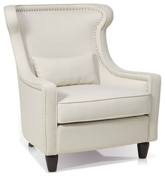 Transitional Wing Chair Fabric Transitional Armchairs