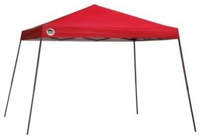 Shelter Logic 12&x27;x12&x27; Quik Shade St81 Slant Leg Canopy, Red.