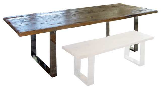 Modern Rustic Wood Table  Small rustic dining tablesModern Rustic Wood Table   Rustic   Dining Tables   by Abodeacious. Modern Rustic Wood Dining Table. Home Design Ideas