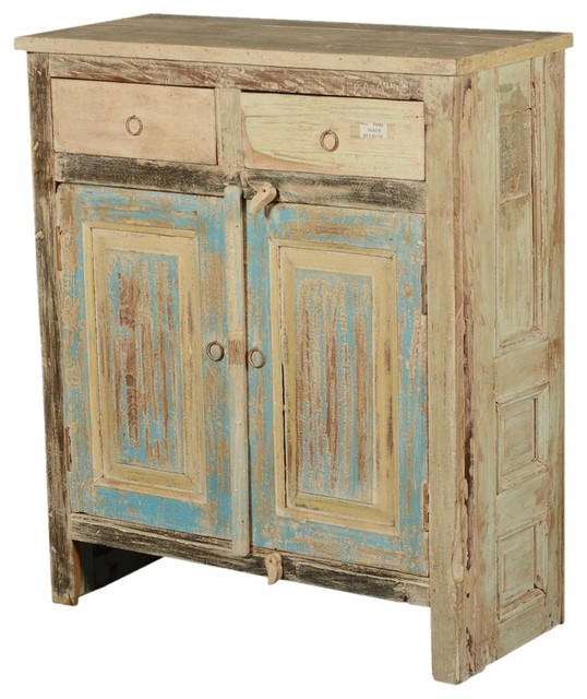 "Painted Wood Furniture And Cabinets: Paint Box Rustic Reclaimed Wood 34"" Storage Cabinet"