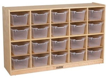 Attrayant Ecr4Kids School, Daycare Toy Storage Cabinet, 20 Tray Cubbies, Includes  Clear