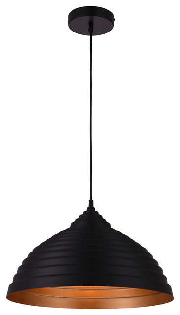 Circa 1-Light Pendant, Black.