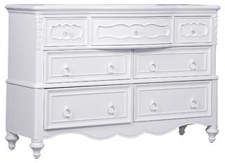 Samuel Lawrence Furniture SweetHeart Drawer Dresser, Bright White